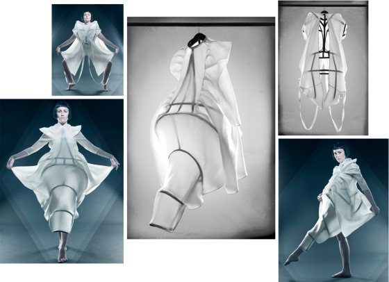 High tech fashion design concept